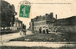 Airvault * La Place Des Promenades Et L'avenue De La Gare - Airvault