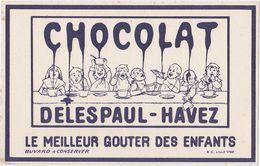 Très Ancien Buvard CHOCOLAT DELESPAUL-HAVEZ - Cacao