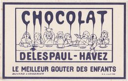 Très Ancien Buvard CHOCOLAT DELESPAUL-HAVEZ - Kakao & Schokolade