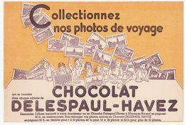 Très Ancien Buvard CHOCOLAT DELESPAUL-HAVEZ / Collectionnez Nos Photos De Voyage - Kakao & Schokolade