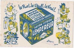Très Ancien Buvard SAVON CITRON LEMPEREUR ESCAUDAIN NORD / Tampon Paul GIRAUD FOURMIES (Nord) - Perfume & Beauty