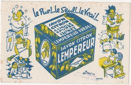 Très Ancien Buvard SAVON CITRON LEMPEREUR ESCAUDAIN NORD / Tampon Paul GIRAUD FOURMIES (Nord) - Profumi & Bellezza