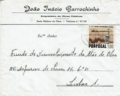 Beja , 1972 , Commercial Cover , Joao Inacio Garrochinho ,  Santa Bárbara De Nexe , Meteorology Stamp - 1910-... République