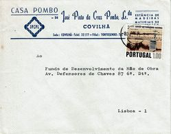 Covilhã , 1972 , Commercial Cover , CASA POMBO ,  Jose Pinto Cruz Pombo , Meteorology Stamp - 1910-... République
