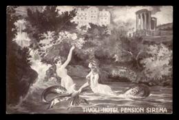 SIRENE - MERMAID - ITALIE - HOTEL TIVOLI PENSION SIRENA - PUBLICITE - CARTE ILLUSTREE - Otros