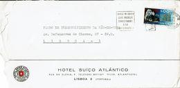 Lisboa . 1972 , Commercial Cover , HOTEL SUIÇO ATLÂNTICO  , Geology  Stamp , Wolframite - 1910-... République