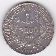 Brésil. 2000 Reis 1934, En Argent. KM# 526 - Brazil