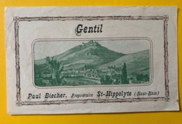 15082  -  Alsace  Gentil Paul Biechler St Hippolyte - Etiquetas