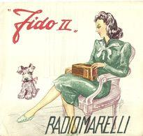 """8370"""" FIDO II-RADIOMARELLI-SUPERETERODINA A 5 VALVOLE-ONDE MEDIE""""4 PAGINE -ORIGINALE 1940 - Littérature & Schémas"""