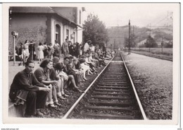 HAUTES PYRENNEES SAINT PE DE BIGORRE GARE 14 AOUT 1945 - Saint Pe De Bigorre
