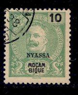 ! ! Nyassa - 1898 King Carlos 10 R - Af. 16 - Used - Nyassa
