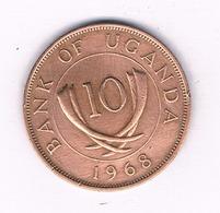 10 CENTS 1968 OEGANDA /4695/ - Uganda