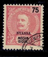 ! ! Nyassa - 1898 King Carlos 75 R - Af. 21 - Used - Nyassa