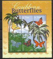 ST KITTS 2001 BUTTERFLIES  MNH - Butterflies