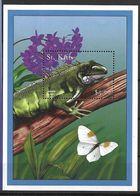 ST KITTS 2001 BUTTERFLIES AND REPTIL  MNH - Butterflies