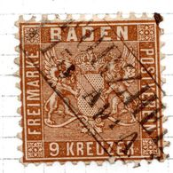 ALLEMAGNE - (BADE) - 1862-64 - N° 19 - 9 K. Brun - Baden