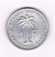 1 FRANC 1957  BELGISCH  CONGO /4700/ - Congo (Belgian) & Ruanda-Urundi