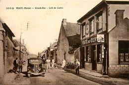Vraux * Grande Rue * Café Du Centre Tabac * Pompe à Essence * Automobile Ancienne - Autres Communes