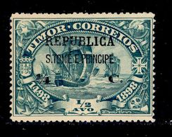 ! ! St. Thomas - 1913 Vasco Gama On Timor 1/4 C - Af. 191 - No Gum - St. Thomas & Prince