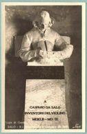 Cartolina Lago Di Garda Gasparo Da Salò Inventore Del Violino - Non Viaggiata - Famous People