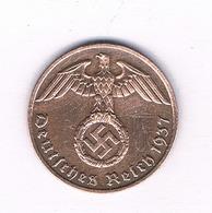 1 PFENNIG 1937 F DUITSLAND /4704/ - [ 4] 1933-1945 : Tercer Reich