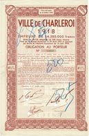 Titre Ancien - Royaume De Belgique - Ville De Charleroi - Obligation De 1918 - Titre De 1949 - N° 14637- - Acciones & Títulos