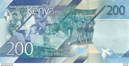 Kenya P.new 200  Shilings 2019 Unc - Kenia