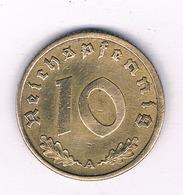 10 PFENNIG 1938 A  DUITSLAND /4705/ - [ 4] 1933-1945 : Tercer Reich