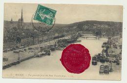 """Rouen - Cachet De Cire  """"Grand Meeting D'aviation Du 19 Au 26 Juin 1910"""" - Rouen"""