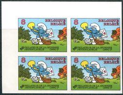 13184168 Be 19841020; Phil. Jeunesse Schtroumpf; BL4 ND Cob2150 N°313à316 - Belgique