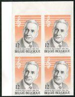 13184175 Be 19841117; Meulemans, Musique; BL4 ND Cob2154 N°289à292 - Ongetande