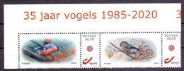 Belgie - 2020 - ** Duostamps - Goudvink - 35 Jaar Vogels 1985 - 2020 - 30 Jaar S.P.A.B.1990 - 2020 - A. Buzin ** - 1985-.. Oiseaux (Buzin)