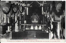 RAON L'ETAPE 88 VOSGES DÉCORATION DE L'INTÉRIEUR DE L'EGLISE JOUR BÉNÉDICTION DES CLOCHES 26/10/1913 EDIT. CREUSAT - Raon L'Etape