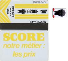 80/ Gabon; Autelca, P2. Logo - Yellow / SCORE, Crossed Zeros - Gabun
