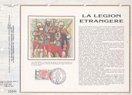 CEF Feuillet N° 722 Soie  -  LA LÉGION ETRANGERE  - AUBAGNE  30 Avril. 1984 - Documents De La Poste