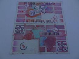 Billet De 25 Gulden 1989 X 2 - [2] 1815-… : Kingdom Of The Netherlands
