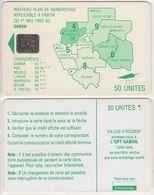 85/ Gabon; Autelca, P11. Green Map, 50 Ut., SC5, CN C4C100973 - Gabun