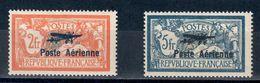 Rare France Poste Aérienne Numéros 1 Et 2**. Très Beaux Et Signés Calves. - 1927-1959 Neufs