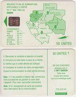 86/ Gabon; Autelca, P11. Green Map, 50 Ut., SC5, CN C51100984 - Gabun