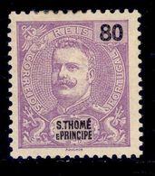 ! ! St. Thomas - 1898 King Carlos 80 R - Af. 51 - MH - St. Thomas & Prince