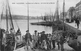 AUDIERNE  - La Cale De La Mairie - Arrivée De La Marée (trEs Animée ) - Audierne