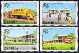 Zambia, 1974, UPU Centenary, Universal Postal Union, United Nations, MNH, Michel 133-136 - Zambia (1965-...)
