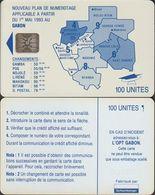 88/ Gabon; Autelca, P12. Blue Map, 100 Ut., SC5, CN C4A100950 - Gabun