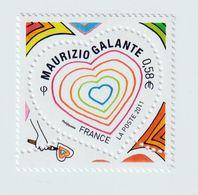 TIMBRE -  2011  -   N°  4528/29  - Saint Valentin , Cœurs Du Couturier Maurizio Galante  -  Neufs Sans Charnière - Frankreich