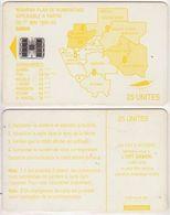 89/ Gabon; Autelca, P15. Yellow Map, 25 Ut., SC7, No CN - Gabun