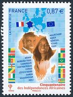 2010 Frankreich Mi# 4957  ** Perfekter Zustand. Afrikanische Unabhängigkeit (Michel)  Fauna - Neufs