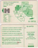 90/ Gabon; Autelca, P16. Green Map, 50 Ut., SC7, No CN - Gabun