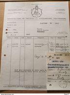 Facture +Avis De Débit. Manufacture De TRICOTS. PULVERMUHL 1950 - Luxembourg
