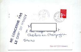 Lettre Cachet Frignicourt  + Ne Concerne  Cfrt Nancy - Marcophilie (Lettres)