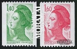 1982 Frankreich Mi# 2307C/2308C  ** Perfekter Zustand. Sabine.- Liberté (Michel)  Serie Gene - Neufs